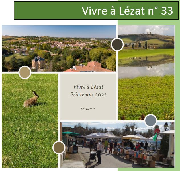Magazine Municipal Vivre à Lézat N° 33 – Printemps 2021 🗓